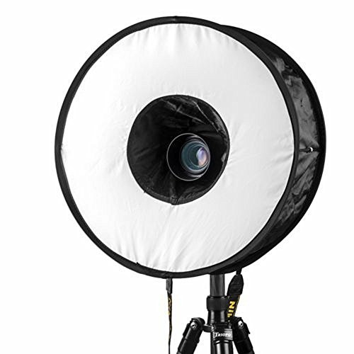 (Round Softbox Flash Light By HP95,Foldable Flash Ring Diameter 17.7inch Diffusers Speedlite Light for Canon Nikon Camera Accessories Portrait Shooting Photography)