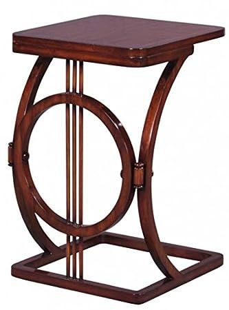 Casa Padrino Art Deco Mahagoni Snack Tisch/Beistelltisch Braun 40 x ...