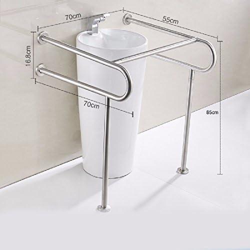 浴室用手すり 304ステンレスの手すりに障害のないトイレの公共のトイレの洗面器の台柱の鉢の手すりの老人の障害者の手すり,b