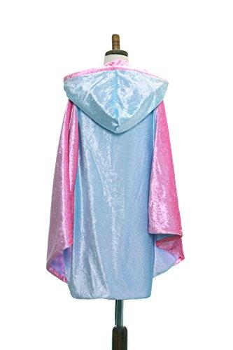Everfan Kid's Hooded Cloak | Children's Double Sided Hooded Cape (Light Blue)]()