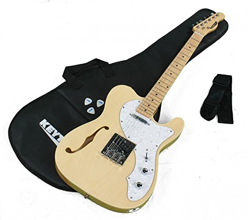 KEYTONE Guitarra Eléctrica TL Style Deluxe con F de agujero & Accesorios: Amazon.es: Instrumentos musicales