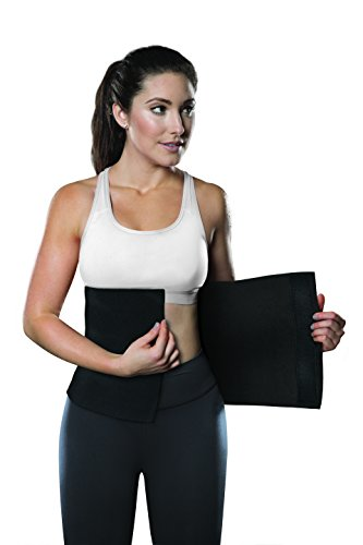 "TKO Waist Trimmer - Adjustable Ab Belt to Help You Shed The Excess Water Weight and Tone Your Mid Section (Black, 12"" W x 43"" L)"