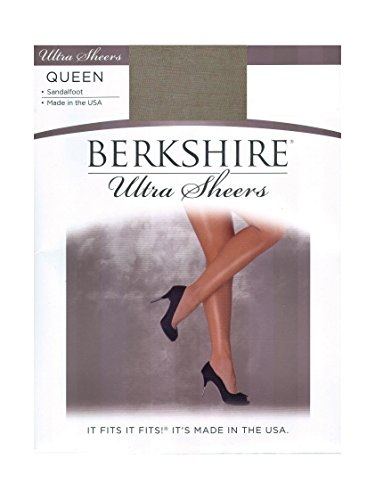 Sheer Pantyhose Berkshire (Berkshire Women's Plus Size Queen Ultra Sheer Non-Control Top Pantyhose - Sandalfoot, Nu Grey, 3X-4X)