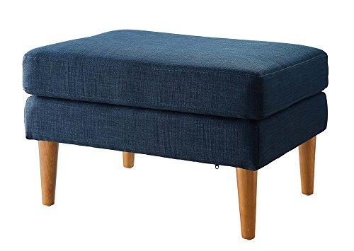 Convenience Concepts Designs4Comfort Marlow Mid Century Ottoman, Blue Fabric ()