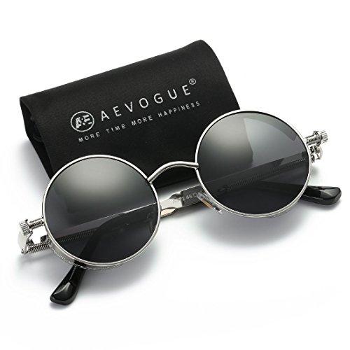 571d764f05 AEVOGUE Polarized Sunglasses Steampunk Round Lens Metal Frame Unisex  Glasses AE0519 - Buy Online in KSA. Apparel products in Saudi Arabia.