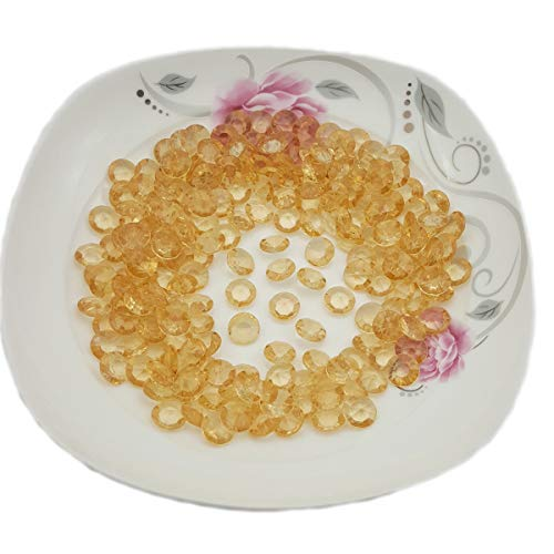 AiFanS Acrylic Diamonds,Gold Acrylic Diamond,Acrylic Diamond Gems for Table Scatter Or Table Confetti,12mm Pack of 500Pcs