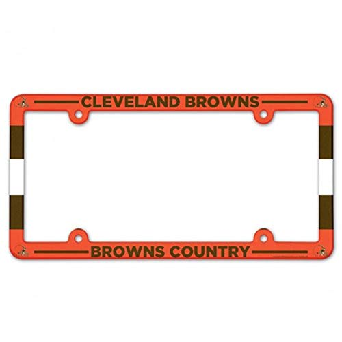 WinCraft NFL Cleveland Browns LIC Plate Frame Full Color