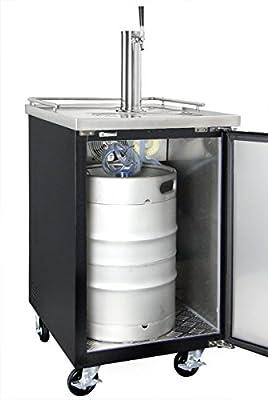 Kegco XCK-1 Commercial Restaurant Bar Kegerator Beer Dispenser with Sankey dispense kit