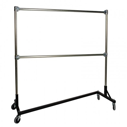 NAHANCO Z164 Rolling Rack, Stock Room Double Rail Z