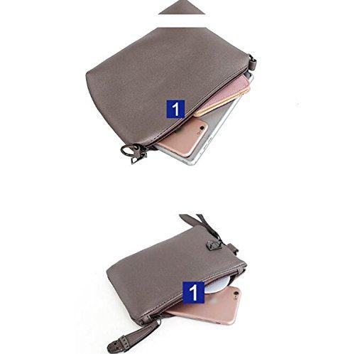 Mujer Estilo Nuevo Capacidad Grande Bolso Compuesto Juego De Tres Piezas Portable Bolso De Hombro Inclinado Beige