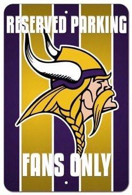 Vikings Parking Sign Minnesota (Minnesota Vikings Vanity Reserved Parking Fans Street Sign 8x12)