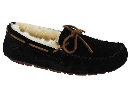 UGG Australia Women's Dakota Slippers, Black, 9 (Slippers Ansley Ugg)