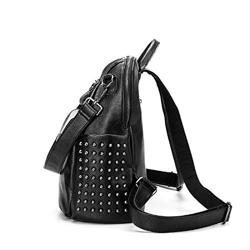 Rivet Handbagwomen's Body Black Pu Bags polyurethane Large Qztg Handbags Backpack Capacity Classic Tote Cross ZFdwdxTX