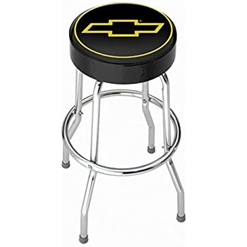 This item Chevy Gold Bowtie Garage Stool