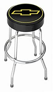 Chevy Gold Bowtie Garage Stool