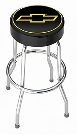 sports shoes 28d63 07dfe Chevy Gold Bowtie Garage Stool