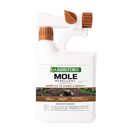 Liquid Fence HG-81666-1 Ready-To-Spray Mole Repellent Concentrate (4 Pack), 32 oz