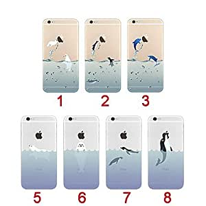 YULIN animales del océano ultra-delgada de TPU suave cubierta de la caja para el iphone 5 / 5s (colores surtidos) , 7