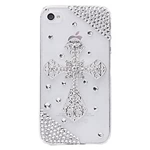 LCJ Cross Jewelry Covered Back Case for iPhone 4/4S by ruishername