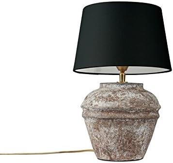 Klassische Tischleuchte mit Berührungsdimmer Leuchtenschirm aus schwarzem Stoff