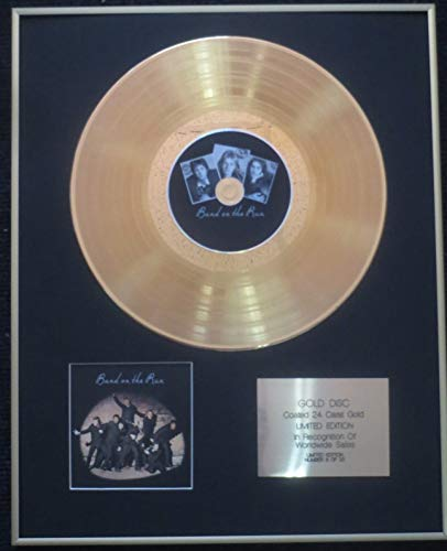 Century Presentations - Wings (Paul McCartney)- Exclusive Limited Edition 24 Carat Gold Disc - Band on The Run (25th Anniversary)