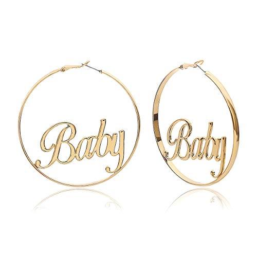 J Meng Hoop Earrings Big Circle Baby Femme Earring for Women (Baby)