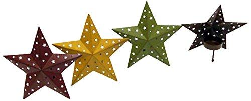 Home Source Tea Light Holder-Tin Mini Holes-5.75 inches Metal Star