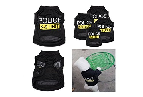Handsome Po-lice K-9 Unit Pattern Pet T-Shirts Small for sale  Delivered anywhere in Canada