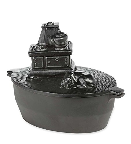 Farmhouse Cook Stove Cast Iron Wood Stove Steamer - 12.25 L x 8 W x 8.75 H (Cook Stove Wood)