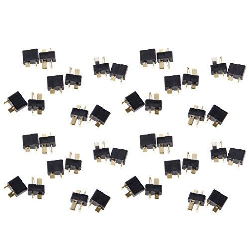 Shoresu Deans Plug Male Plugs, 20Pairs T Plug Male & Female Deans Connectors Style for RC LiPo Battery (Style Battery Lipo)