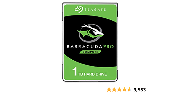 Seagate BarraCuda Pro 1TB Internal Hard Drive Performance HDD - 2.5 Inch SATA 6 Gb/s 7200 RPM 128MB Cache for Computer Desktop PC Laptop, Data Recovery - Frustration Free Packaging (ST1000LM049)