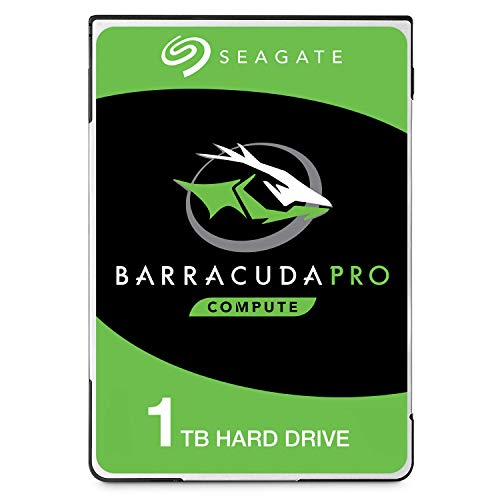 Seagate BarraCuda Pro 1TB Internal Hard Drive Performance HDD - 2.5 Inch SATA 6 Gb/s 7200 RPM 128MB Cache for Computer Desktop PC Laptop, Data Recovery - Frustration Free Packaging ()