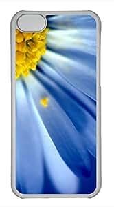 iPhone 5c case, Cute Blue Petals iPhone 5c Cover, iPhone 5c Cases, Hard Clear iPhone 5c Covers