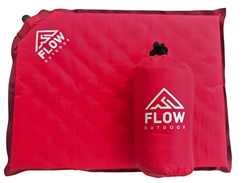 Flow Outdoor Inflatable Air Cushion - Portable Seat Pad for Bleachers at Sports Stadiums and Camping (Red)