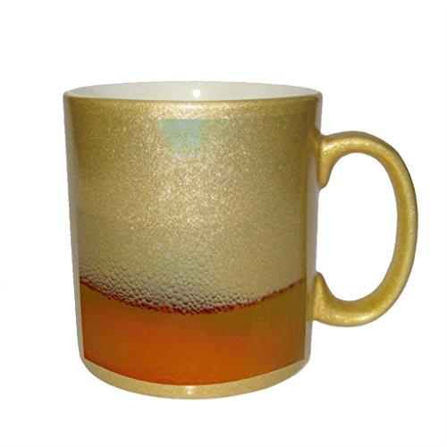 Beer in Glass Metallic Gold Sparkle Coffee Mug (Metallic Beer Mug compare prices)