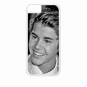 Justin Beiber - close up - Hard White Plastic Snap - On Case-Apple Iphone 5C Only - Great Quality!