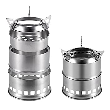 Portable Camping Stove Lightweight Camp Wood Stainless Steel Alcohol Stove