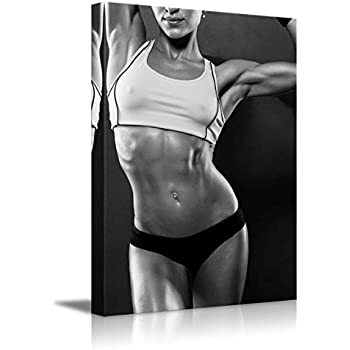 "Wall26 - Canvas Prints Wall Art - Sexy Fitness Model with Toned Physique - 24"" x 36"""