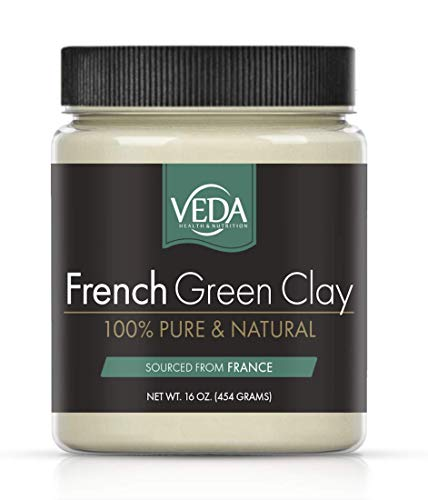 NEW! VEDA French Green Illite Clay | 100% Pure | From Natural French Clay Deposits | 16 oz. (454 grams)