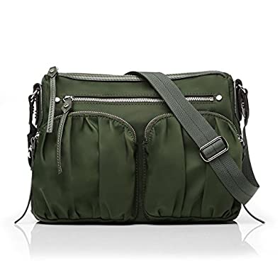 4f09e6b4b13f60 MZ Wallace Paige Nylon Crossbody - Hunter Green Bedford - Versatile  Crossbody - Signature Bedford Nylon, 4 exterior zip ...