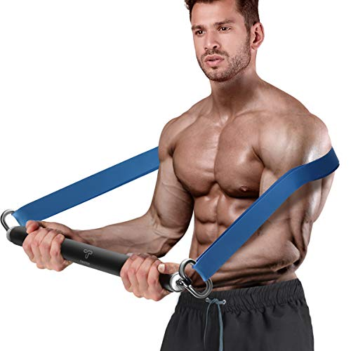 Tikaton Resistance Bar Portable Home Gym, Weightlifting Training Kit, Full Body Workout Equipment, Resistance Band Set