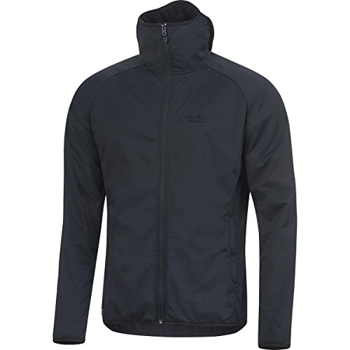 GORE BIKE WEAR Men's Urban Hooded Cycling Jacket, GORE WINDSTOPPER,  URBAN GWS Hoody, Size M, Black, JWSHEL (Windstopper Jacket Hooded Shell)