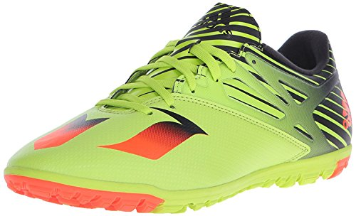 (adidas Performance Men's Messi 15.3 TF Soccer Shoe,Semi Solar Slime/Solar Red/Black,9 M US)
