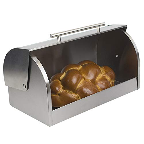 Home Basic BB44294 Bread Box With Glass Cover