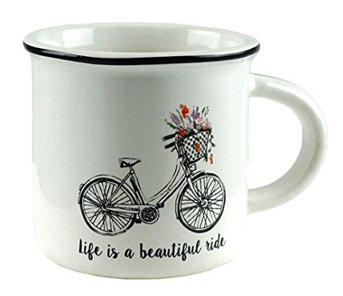 Life is a Beautiful Ride Bicycle Ceramic Coffee Mug