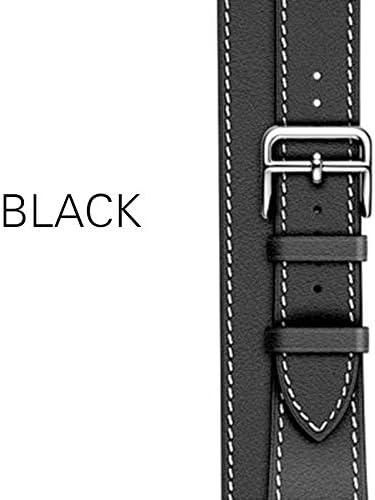 TGBZ 交換用ベルト付き超薄型ストラップ高品質男性/女性適した時計バンド本革バンドストラップ (Band Color : 11black, Band Width : SM 44mm)