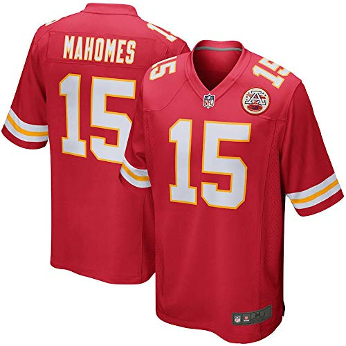 Officially Licensed NFL Football Player Jersey #15 Patrick Mahomes KC Chiefs Jersey for Men Youth Kids Women