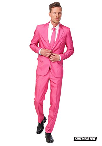 [OppoSuits B.V mens Men's SuitMeister Basic Pink Suit Medium] (Pink Man Suit)