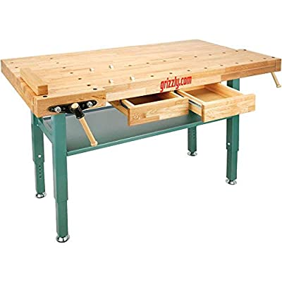 Grizzly Oak Workbench T10157 – Best All-Around Value Woodworking Bench Review