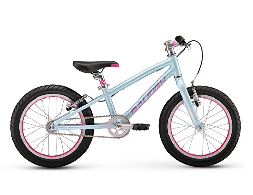 Raleigh Bikes Lily 16 Girl's Mountain Bike, 16' Wheels, Sky Blue